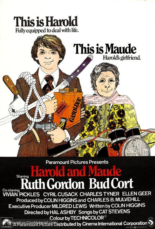 Harold and Maude - British Movie Poster
