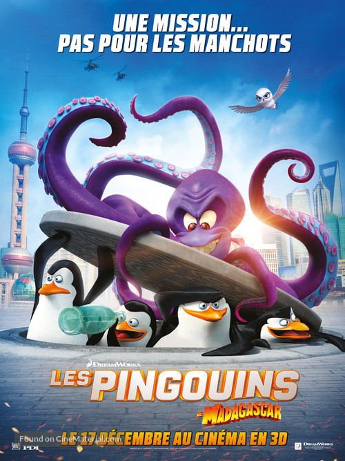 Penguins of Madagascar - French Movie Poster
