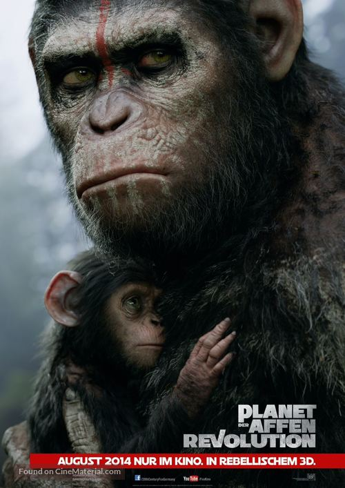 Dawn of the Planet of the Apes - German Movie Poster