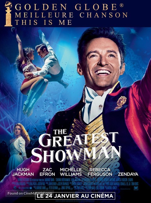 The Greatest Showman - French Movie Poster