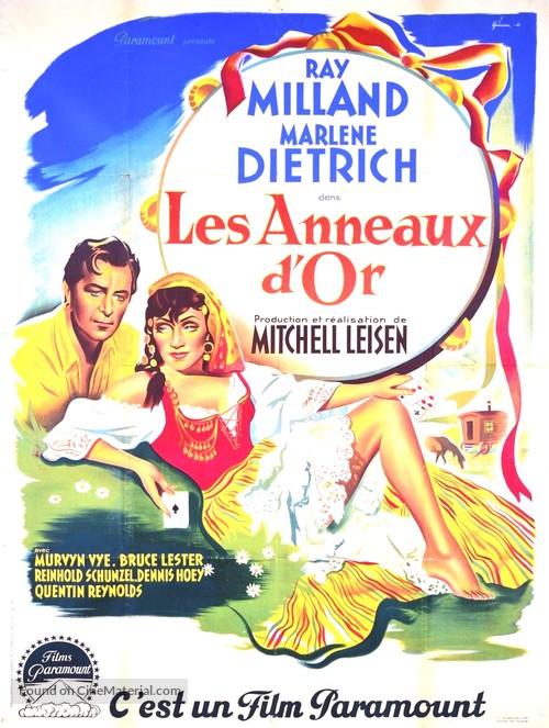 Golden Earrings - French Movie Poster