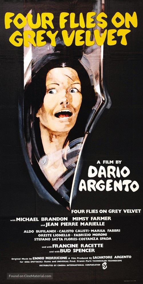 4 mosche di velluto grigio - British Movie Poster