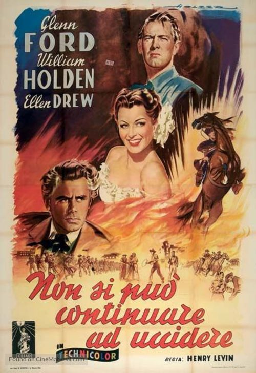 The Man from Colorado - Italian Movie Poster