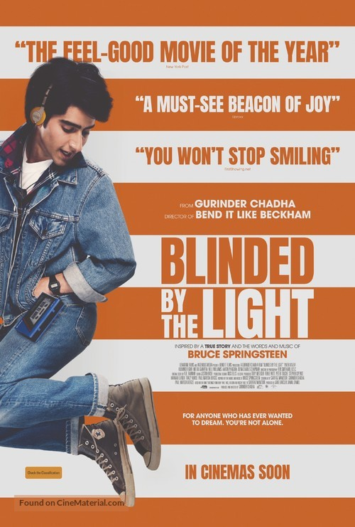 Image result for blinded by the light movie poster