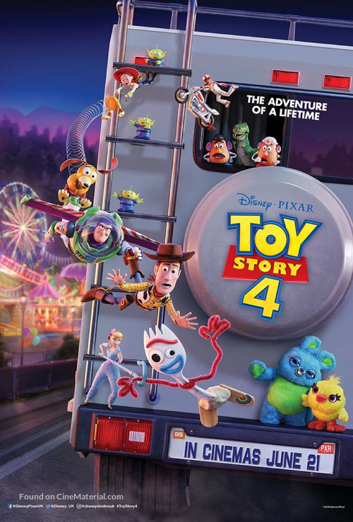 Toy Story 4 - British Movie Poster