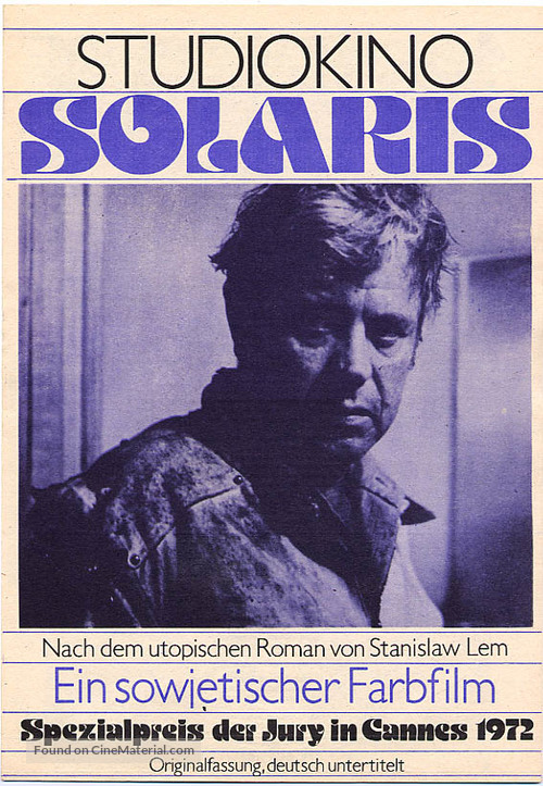 Solyaris - German Movie Poster
