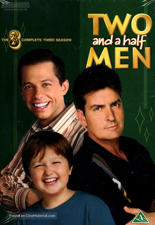 """""""Two and a Half Men"""" - Danish DVD movie cover"""