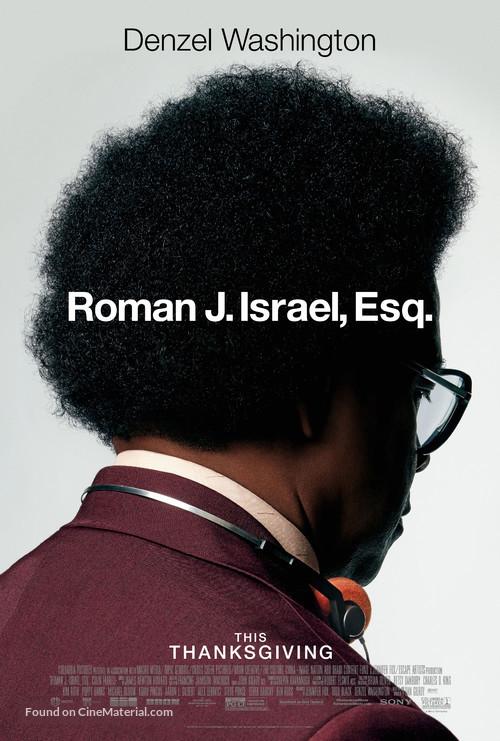 Roman J Israel, Esq. - Movie Poster