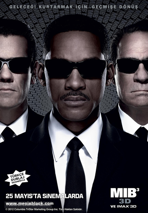 Men in Black 3 - Turkish Movie Poster