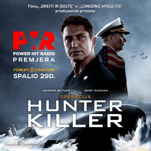 Hunter Killer - Lithuanian Movie Poster