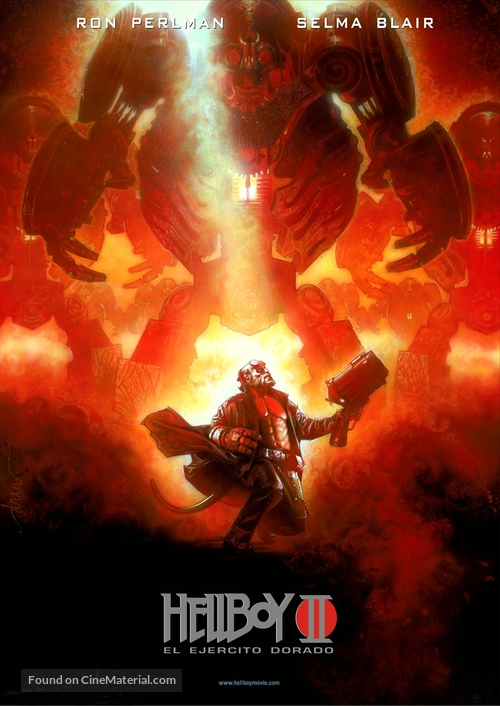 Hellboy II: The Golden Army - Spanish Movie Poster