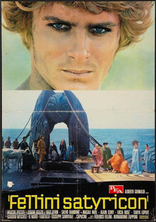 Fellini - Satyricon - Italian Movie Poster