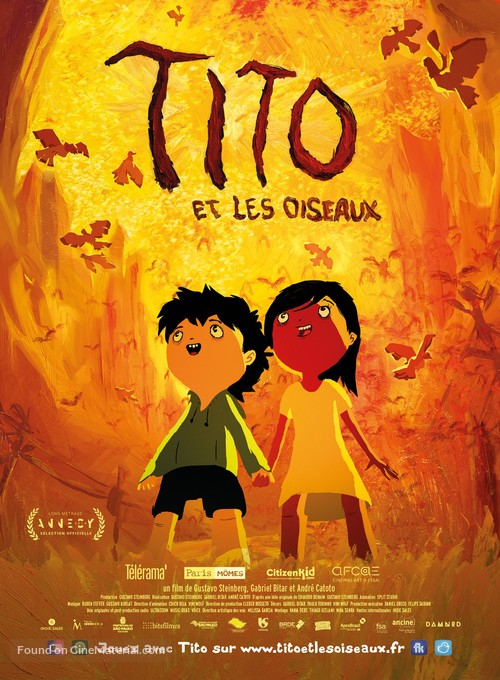 Tito e os Pássaros - French Movie Poster