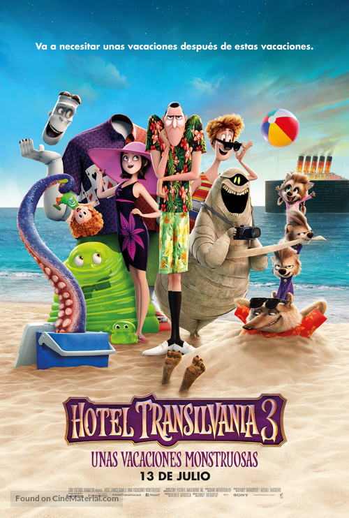 Hotel Transylvania 3 - Spanish Movie Poster