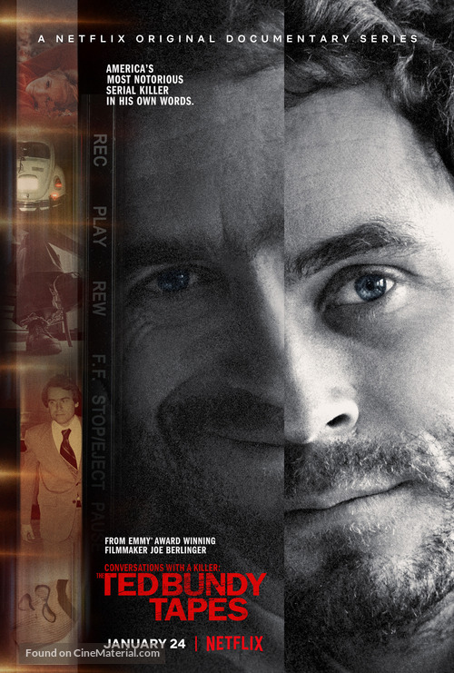 """""""Conversations with a Killer: The Ted Bundy Tapes"""" - Movie Poster"""