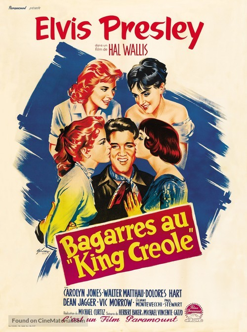 King Creole - French Movie Poster
