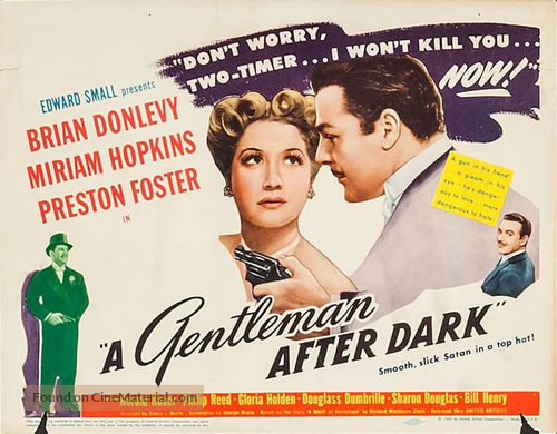 A Gentleman After Dark - Movie Poster