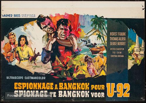 Der Fluch des schwarzen Rubin - Belgian Movie Poster