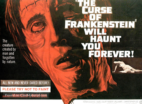 The Curse of Frankenstein - Movie Poster