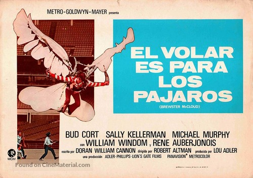 Brewster McCloud - Spanish Movie Poster