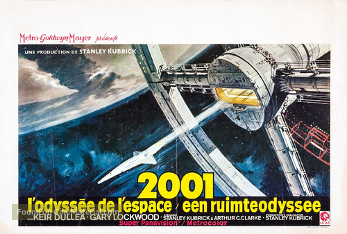 2001: A Space Odyssey - Belgian Movie Poster