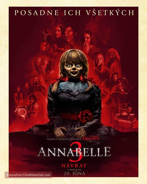Annabelle Comes Home - Slovak Movie Poster