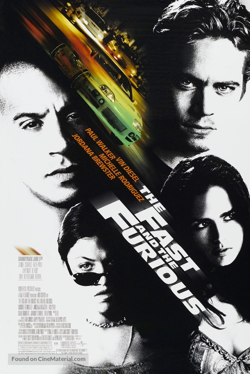 The Fast and the Furious - Movie Poster