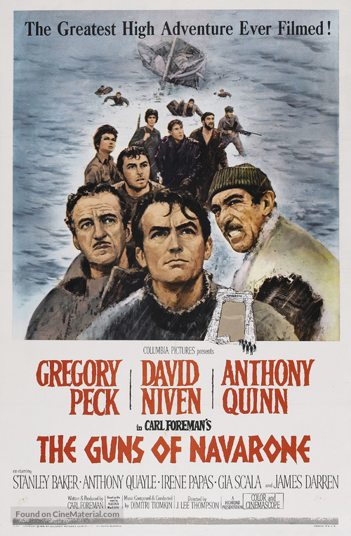 The Guns of Navarone - Movie Poster