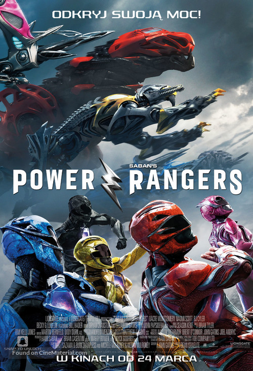 Power Rangers - Polish Movie Poster