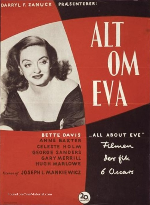 All About Eve - Danish Movie Poster