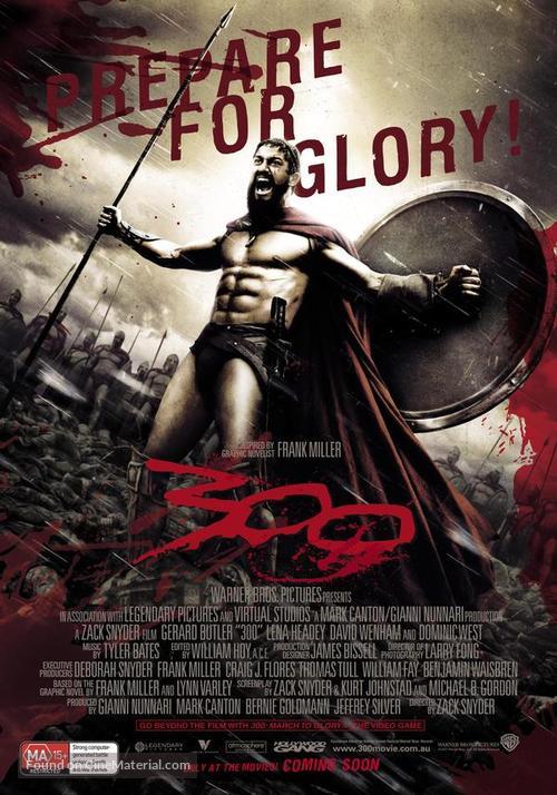 300 - Australian Movie Poster