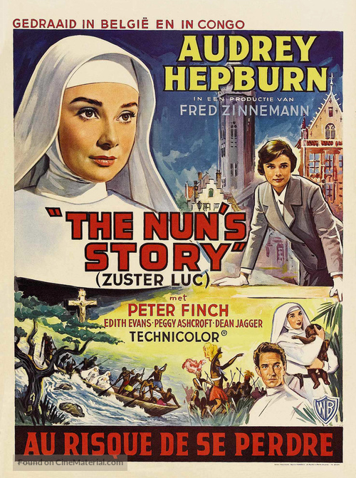 The Nun's Story - Belgian Movie Poster