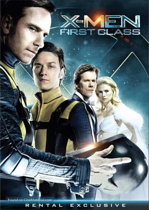 X-Men: First Class - DVD movie cover