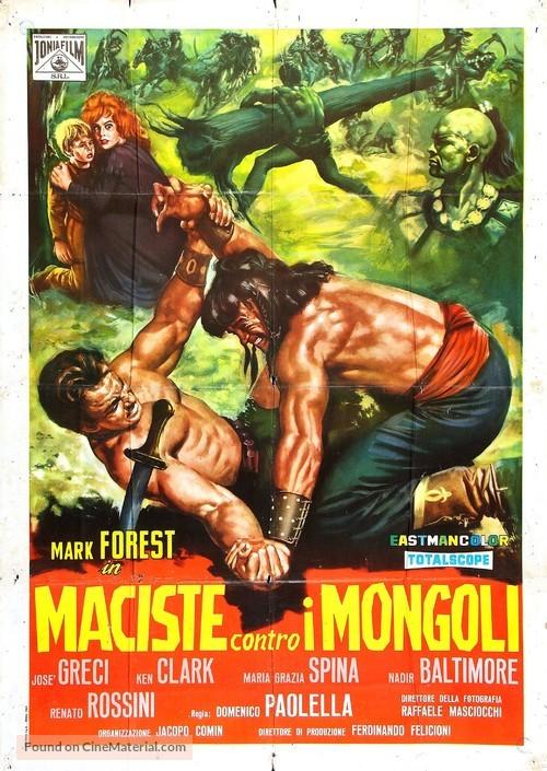 Maciste contro i Mongoli - Italian Movie Poster