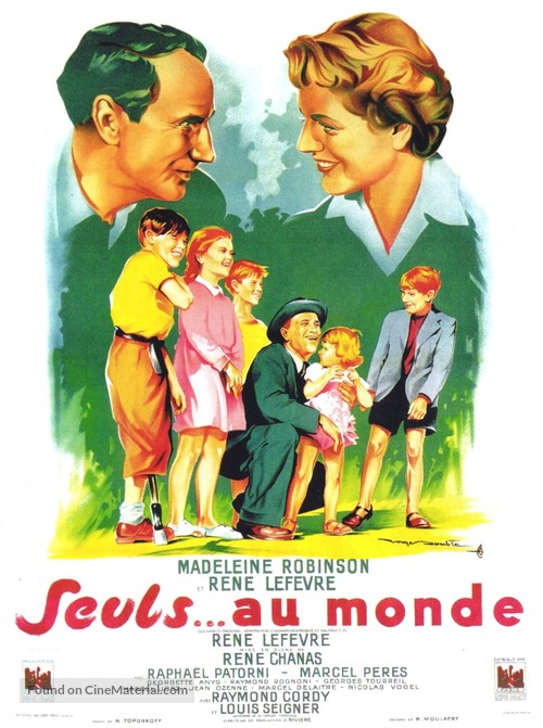 Seuls au monde - French Movie Poster