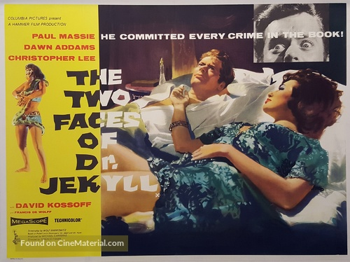 The Two Faces of Dr. Jekyll - British Movie Poster
