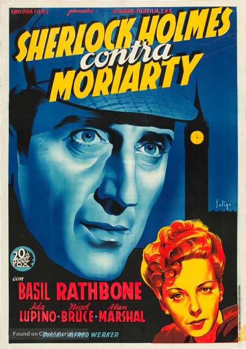 The Adventures of Sherlock Holmes - Spanish Movie Poster