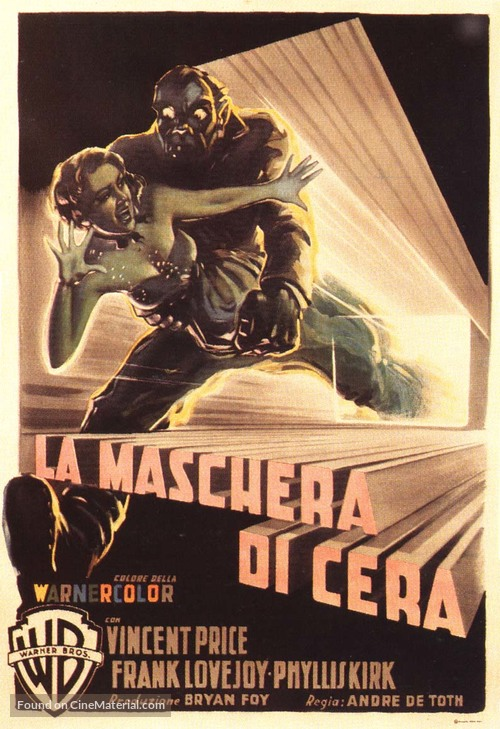 House Of Wax Italian Movie Poster