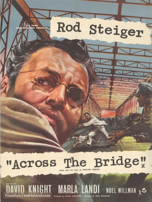 Across the Bridge - British Movie Poster