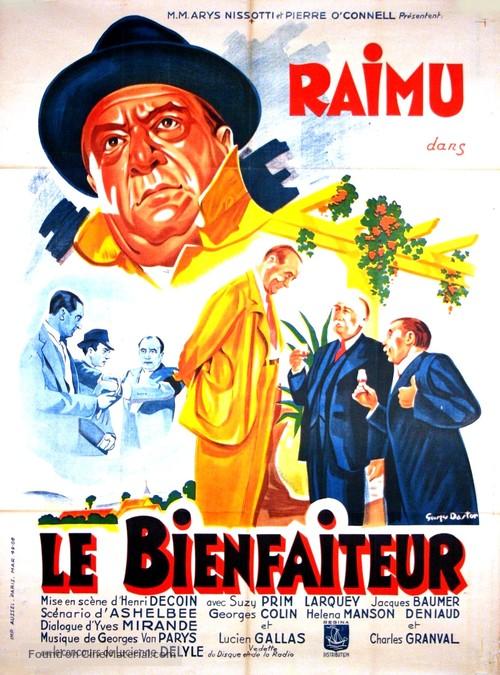 Le bienfaiteur - French Movie Poster