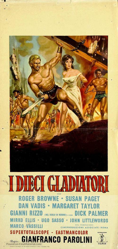Dieci gladiatori, I - Italian Movie Poster
