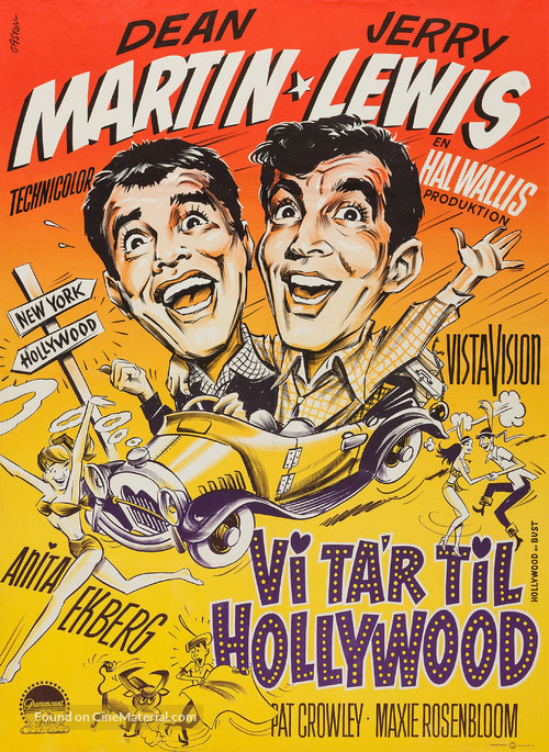Hollywood or Bust - Danish Movie Poster
