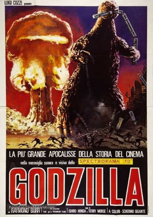 Godzilla, King of the Monsters! - Italian Movie Poster