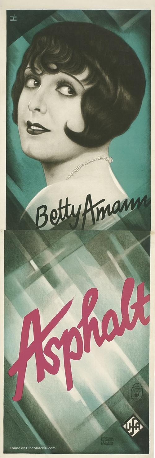 Asphalt - German Movie Poster
