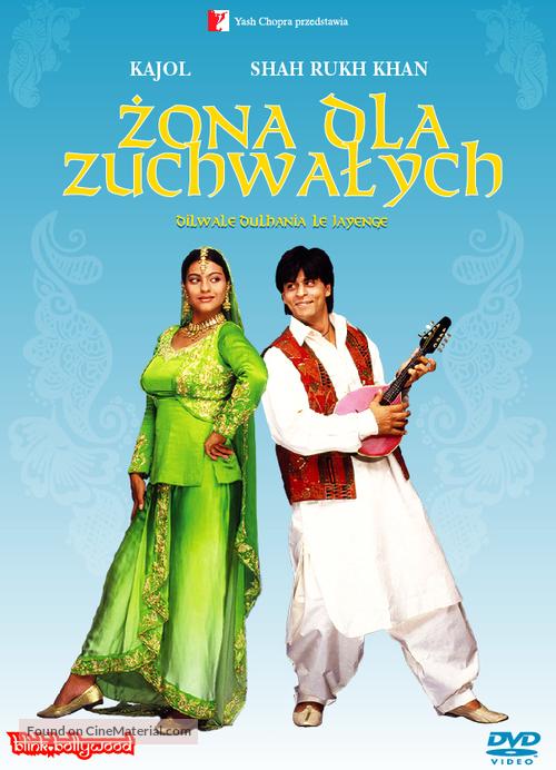 Dilwale Dulhania Le Jayenge 1995 Polish Dvd Movie Cover