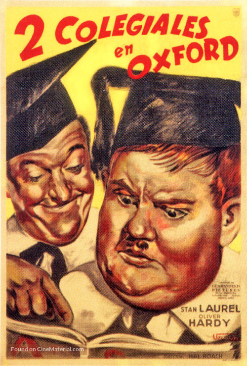 A Chump at Oxford - Argentinian Movie Poster
