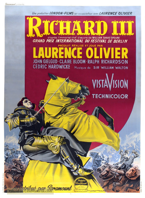 Richard III - French Movie Poster