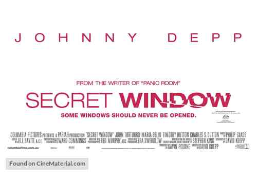 Secret Window - Australian Movie Poster
