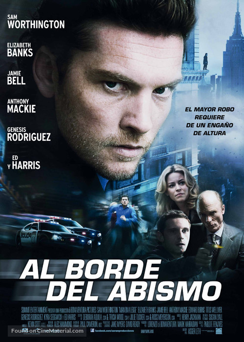 Man on a Ledge - Spanish Movie Poster