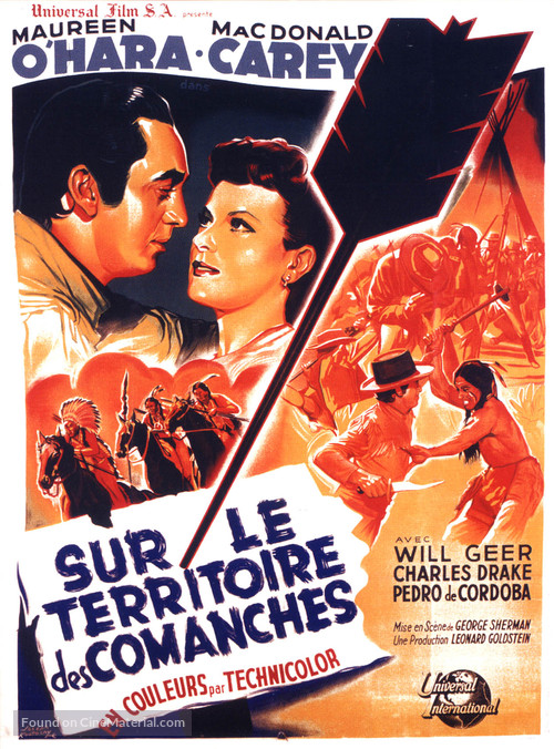 Comanche Territory - French Movie Poster